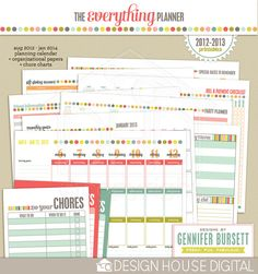 The Everything Planner : 2012-2013 Printables