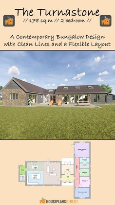 Small House Design, Modern House Design, Country Farmhouse Decor, Country Living, Guest Bed, Home Design Plans, House Plans, Floor Plans, Cottage