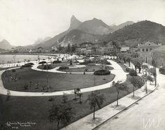 Augusto Malta. Vista da avenida Beira Mar com o Corcovado e pedra da Gávea ao fundo, 12/11/1906. Botafogo, Rio de Janeiro / Acervo IMS