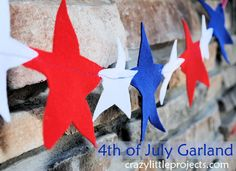Fun garland for the 4th.
