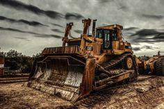 D10 cat bulldozer HDR image.