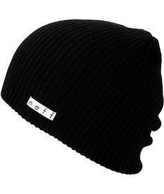 8d344dbb4b7 Neff Daily Black Beanie Soft Grunge Outfits