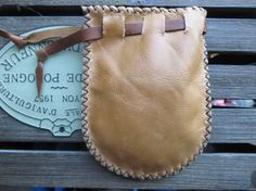 Sac cuir porte-monnaie / pochette / sac main par CastawayTradingCo