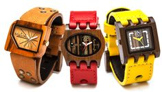 Love these watches, both organic and very modern. Great idea for the Mr. Mistura Watches