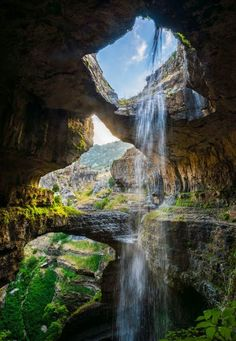 Beautiful Waterfall in Mount Lebanon (Nature Conservancy Blog)