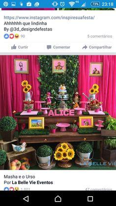 Bear Birthday, Third Birthday, Happy Birthday, Birthday Parties, Alice, Masha And The Bear, Bear Party, Love Cake, Flora