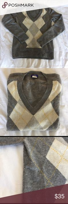J Crew cashmere argyle sweater Great, super soft cashmere sweater. In great condition, some very light pulling on sides, see photo. Reasonable offers welcome, no trades. J. Crew Sweaters