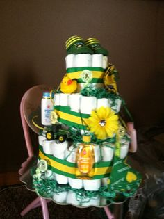 Angela's John Deere diaper cake