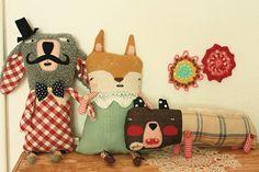 cute sewn characters