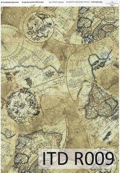Rice paper - Itd Collection decoupage paper - old maps Decoupage Tissue Paper, Decoupage Glass, Tissue Paper Crafts, Projects For Kids, Diy For Kids, Paper Manufacturers, Paper Ornaments, Old Maps, Rice Paper
