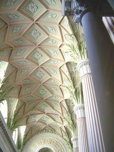 Nicolai-Kirche Leipzig, gestrichen mit Kreidezeit Kasein Marmormehlfarbe erhältlich bei www.naturfarben-potsdam.de