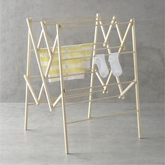 Your dryer is one of the biggest consumers of household electricity. Go green with this beautiful wood drying rack and keep your clothes looking their best. Wooden Clothes Drying Rack, Hanging Wine Rack, Laundry Rack, Rack Design, Small Apartments, Home Organization, Organizing Ideas, Crate And Barrel, Wardrobe Rack