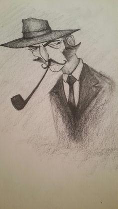 Drawing man figures sanat karakalem karikatür