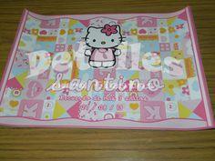 Mantelitos individuales personalizados. Temática Hello Kitty.