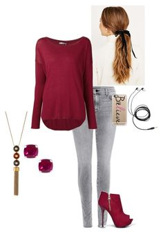 """Untitled #45"" by shaziwazi on Polyvore featuring J Brand, Vince, Qupid, Tory Burch, Jewel Exclusive, Casetify and casual"