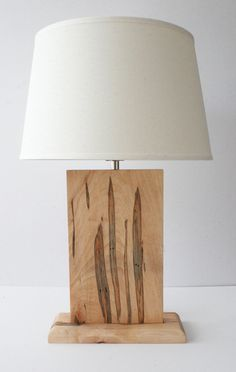 Natural Grain Table Lamp - Wormy Maple (Ambrosia) LITERALLY LOOKS LIKE SNAKES