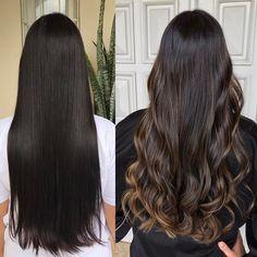 Long Hair Highlights, Brown Hair Balayage, Hair Color Balayage, Hair Lights, Light Hair, Dark Hair, Hombre Hair, Hight Light, Beautiful Long Hair
