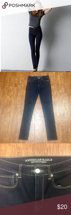American Eagle hi rise skinny dark wash jeans 8 Brand-new without tags. American Eagle outfitters high rise skinny jeans size 8 extra long.69% cotton 20% polyester 10% viscose 1% elastane. American Eagle Outfitters Jeans Skinny
