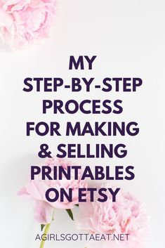 My Step-By-Step Workflow for Making, Organizing, & Selling Printables on Etsy - A Girl's Gotta Eat. - From idea to cash cow, here's every step of my process for making and selling printable digital products on Etsy. Make Money From Home, Way To Make Money, Make And Sell, Make Money Online, How To Make, Things To Sell Online, Sell Diy, Etsy Business, Craft Business