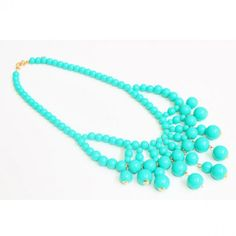 Turquoise Bubble Statement Necklace