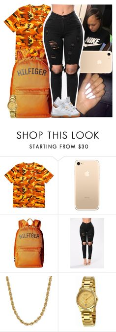 """Untitled #1174"" by msixo ❤ liked on Polyvore featuring Tommy Hilfiger, Mad Love and Gucci"