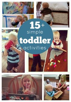 Toddler Approved!: 15+ Simple Toddler Activities