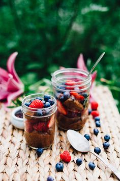 Raw Chocolate Mousse and Berry Parfaits (Vegan, Gluten Free) Will Frolic for Food