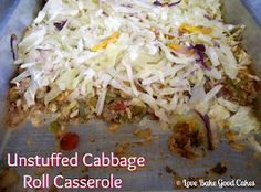 Love Bakes Good Cakes: All my Bloggy Friends #2 and Unstuffed Cabbage Roll Casserole