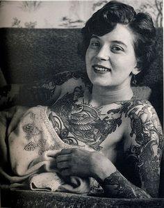 vintage tattoo old photograph