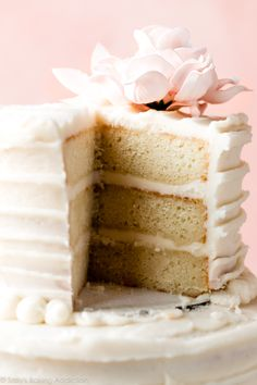 How to make a homemade DIY 2 tier wedding cake with full recipe and video decorating tutorial on Homemade Cake Recipes, Cupcake Recipes, Cupcake Cakes, Cupcakes, Fondant Recipes, Fondant Tips, Frosting Recipes, Snack Recipes, Dessert Recipes