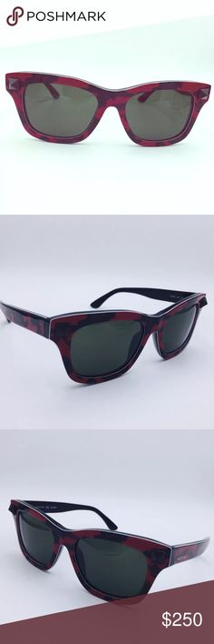 AUTHENTIC Valentino Sunglasses Valentino V670SC Sunglasses in camo red/black. Valentino own the classic frame with their synonymous camouflage print. The contemporary acetate sunglasses are accented with flashes of red whilst the frames are detailed with a Valentino 'Rockstud' on each side. The unisex sunglasses are finished with subtle 'Valentino' branding on the left temple. Color: red. They are pre-owned but in GREAT condition! They don't come with the Valentino case, but a generic case…