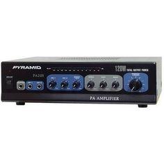 "120 Watt Microphone PA Amplifier w/70V Output ""& Mic Talkover"