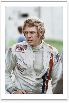 Steve McQueen - Le Mans--man in racing whites Steve Mcqueen Le Mans, Actor Steve Mcqueen, Steve Mcqueen Style, F1 Wallpaper Hd, Steeve Mcqueen, Tag Heuer Monaco, Joe Cool, Hollywood Celebrities, Hollywood Actresses