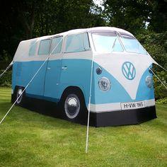 Carpa con aire setentoso en forma de camioneta Volkswagen