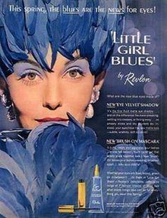 Vintage Beauty and Hygiene Ads of the (Page 60s Makeup, Revlon, Vintage Beauty, Mascara, 1960s, Little Girls, Blues, Make Up, Ads