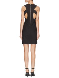 Structured Mesh Cut-Out Dress from Helmut Lang on Gilt