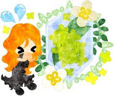 春のフリーのイラスト素材祈る可愛い女の子と黄色い花のクリスタル  Free Illustration of spring A cute praying girl and a crystal of yellow flowers   http://ift.tt/2oXxNvw