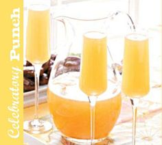 Champagne Punch. I consider this breakfast champagne and omit the grapefruit juice.
