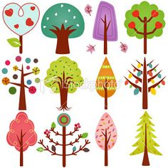 Find Vector Simple Trees Pastel Color Set stock images in HD and millions of other royalty-free stock photos, illustrations and vectors in the Shutterstock collection. Bordado Popular, Simple Tree, Illustration Art, Illustrations, Home And Deco, Tree Art, Fabric Painting, Pastel Colors, Painted Rocks