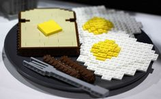 TOAST AND EGGS LEGO  @freshgoodies. Visit us for endless Lego Creations!