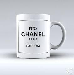 Chanel N5 Paris Parfum White Mug