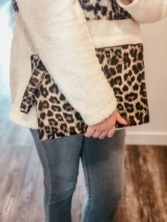 Can't get enough leopard! A great evening bag. This clutch also doubles as a great diaper bag on the go. Shop online & in store @ Miss Modern Boutique Leopard Clutch, Girly Gifts, Online Boutiques, Affordable Fashion, Boutique Clothing, Diaper Bag, Heaven, Fashion Outfits, Store