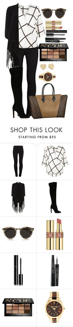 """""""Untitled #1330"""" by fabianarveloc on Polyvore featuring J Brand, AX Paris, Soaked in Luxury, Gianvito Rossi, Louis Vuitton, Illesteva, Yves Saint Laurent, Chanel, Dolce&Gabbana and Bobbi Brown Cosmetics"""