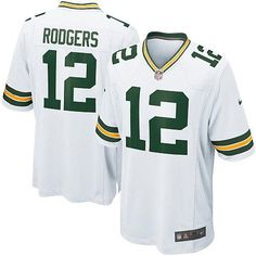 f4d45e060 New Men's White Nike Game Green Bay Packers #12 Aaron Rodgers Color NFL  Jersey