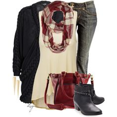A fashion look from September 2014 featuring Stine Ladefoged cardigans, Doublju tops y Roque Bags shoulder bags. Browse and shop related looks.