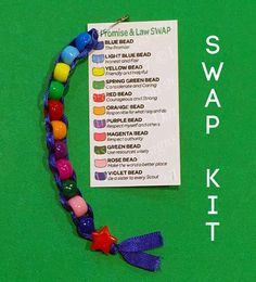 Scout SWAPs Kit ~ Promise and Law ~ Beaded Scout Troop Craft Activity for 12 Girl Scout Law, Girl Scout Leader, Girl Scout Activities, Craft Activities, Creeper Minecraft, Girl Scout Juniors, Daisy Girl Scouts, Girl Scout Crafts, Brownie Girl Scouts