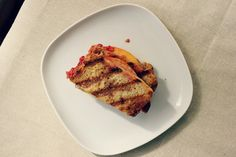 sweet miscellany: Almond Butter, Peach, & Raspberry Panini #vegan #glutenfree