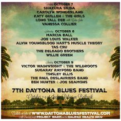 Daytona #Blues Festival Announces 2016 Lineup and Early Bird Pricing - Ends August 15th!