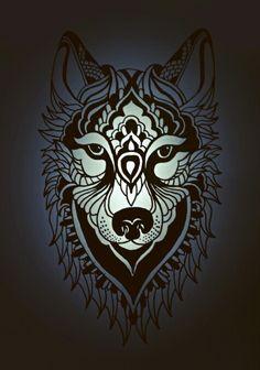 Wolf # sketch # art # zentangle # mandala # tattoo # for fun