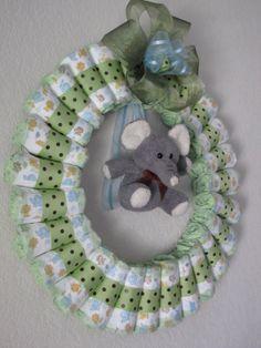 disper wreath   Blissful Bunches: New Diaper Wreath!
